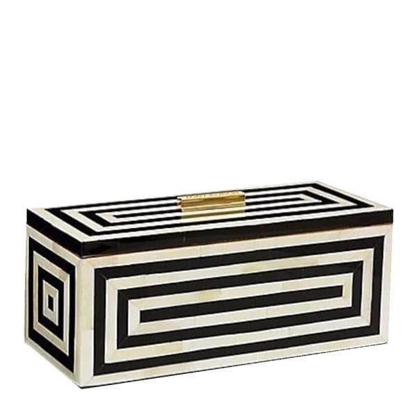 Shari Bone Inlay Stripe Decorative Box