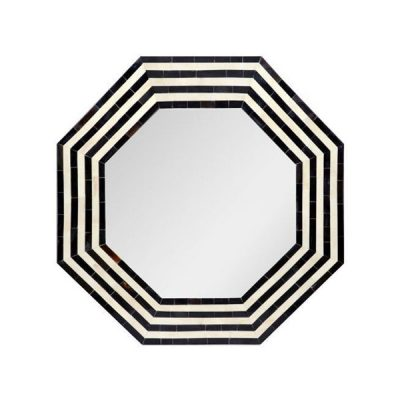 Rani Bone Inlay Hexagonal Mirror Small