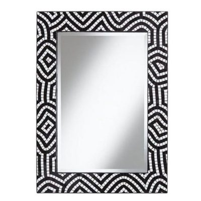 Mosaic Bone Inlay Rectangular Mirror