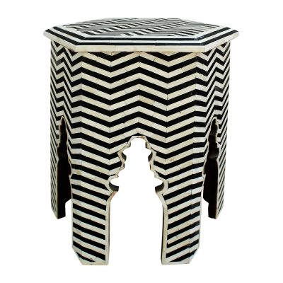 Rafiki Bone Inlay Moroccan Side Table