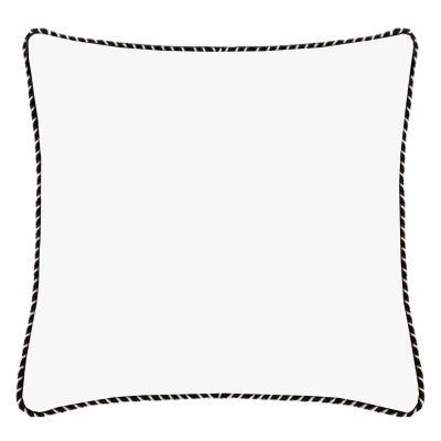 Audrey White Whipstitch Linen Cushion