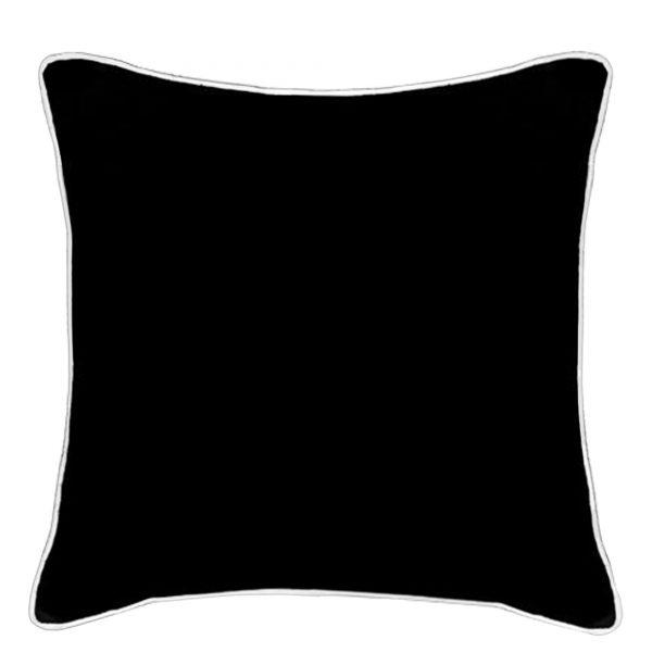 Wanda Black Linen Cushion