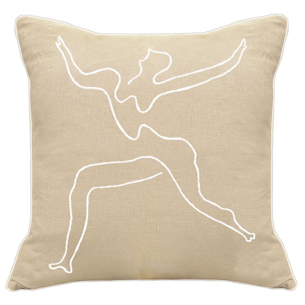 Picasso Dancing Man Natural Linen Cushion