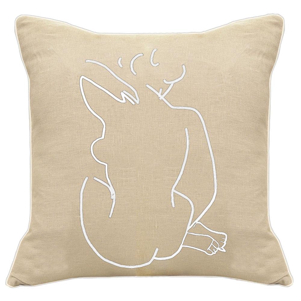 Matisse Back of a Woman Natural Linen Cushion