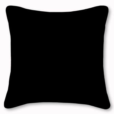Wanda Plain Black Cotton Linen Cushion
