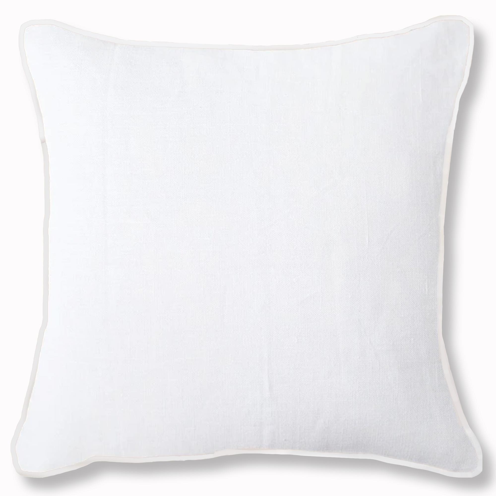 Wanda Plain White Linen Cushion